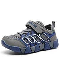 Kids Outdoor Sneakers Strap Athletic Running Shoes