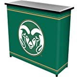 NCAA Colorado State University Two Shelf Portable Bar with Case