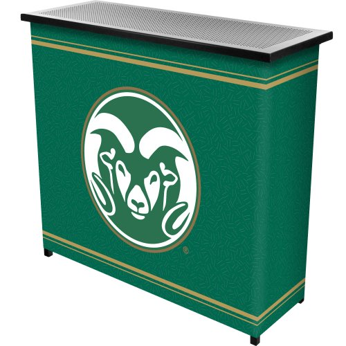 Cheap NCAA Colorado State University Two Shelf Portable Bar with Case