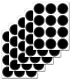 Firefly Craft Chalkboard Labels for Spice Jars and Organizing, Circle 60 Pack