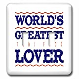 Russ Billington Designs - Thai Food- Worlds Greatest Lover - Light Switch Covers - double toggle switch (lsp_239108_2)