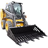 Titan Attachments 72'' Rock Bucket Skeleton Loader w/ Teeth Skid Steer Bobcat