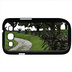 hilly footpath (Fields Series) Watercolor style - Case Cover For Samsung Galaxy S3 i9300 (Black)