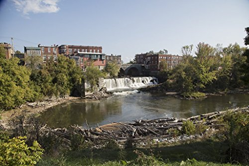 Photograph- Middlebury Falls, a waterfall on the Otter Creek in the heart of downtown Middlebury, Vermont. The falls once powered several mills in this industrial community 3 24in x 16in