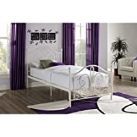 New Bombay Twin Metal Bed 300 lbs, White
