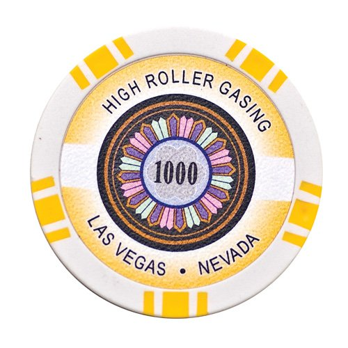 Lion Games & Gifts Europe 11.5 g High Roller Value 1000 Chip (Yellow) ()