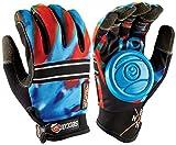 longboarding slide gloves - Sector 9 BHNC Longboard Skateboard Slide Gloves Acid Blue With Slide Pucks Size L/XL