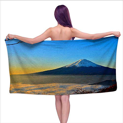 - Beach Towel for Kids,Mt Fuji,Beach, Swimming, Bath, Camping, and Picnic W 27.5