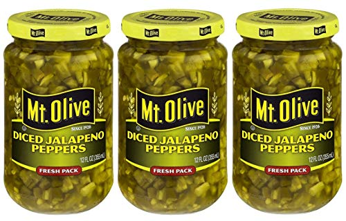 Mt. Olive Diced Jalapeno Peppers 12 Ounce (Pack of 3) ()