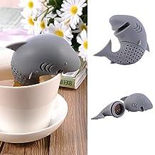 Silicone Tea Strainer & Steeper Cute Home Office Tea Leaf Strainer Loose Leaf Tea Infuser Tea Filter (H)