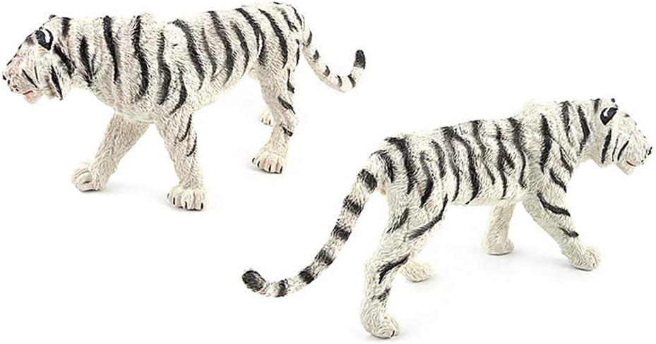 Yangyang Statue de Tigre Blanc D/écoration Dint/érieur Cour de Jardin Sculpture Animali/ère Ornements de Collection Mod/èle Animal de Simulation Les Jouets denfants Cadeaux 30 X 7 X 13CM