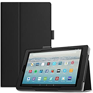 "Infiland All-New Fire HD 10 2017 Case - Premium Folio Smart Stand Cover with Auto Wake/Sleep Function for All-New Fire HD 10 Tablet 10.1"" (7th Generation, 2017 Release), Black"
