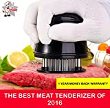 Meat Tenderizer - Premium Quality 56 Ultra Sharp Stainless Steel Blades For Steak, Chicken, Fish and Pork - Best Manual Tenderizer With A Beautiful Gift Box