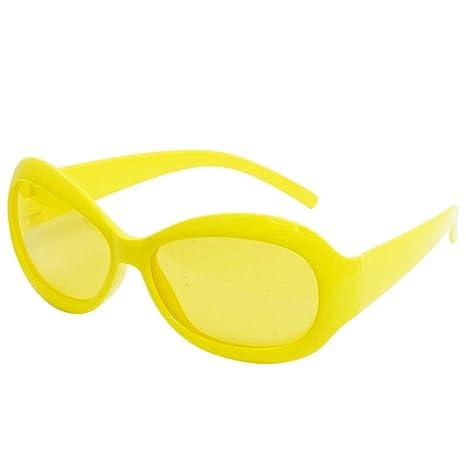 Amarillo de plástico del borde lleno solo puente Gafas de ...