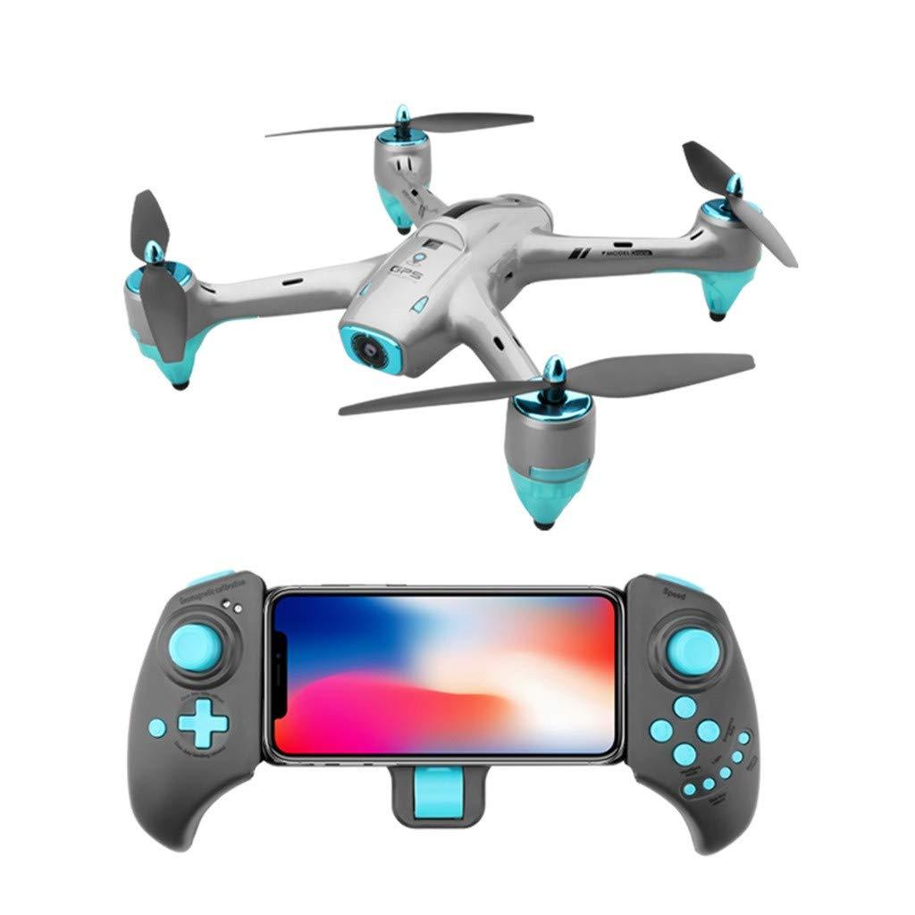 Nourich RC-Flugzeuge GPS-Nachsorgepositionierung Weißwinkel-Luftbild-Drohne - 720P WiFi HD-Kamera, Eingebauter 6-Achs-Gyro, VR-Huckepack, Einfache Steuerung