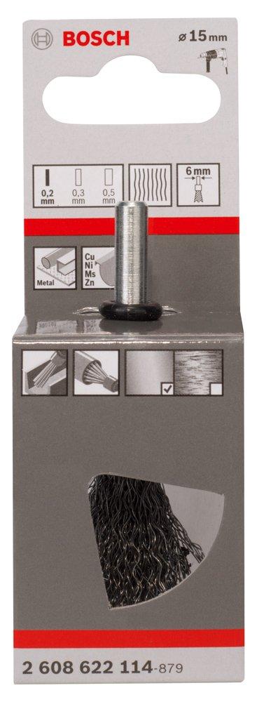 0,2 mm Cepillo de pincel Bosch 2 608 622 114 15 mm pack de 1