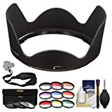 Nikon HB-39 Bayonet Lens Hood for 16-85mm f/3.5-5.6G & 18-300mm f/3.5-6.3G VR with 3 UV/CPL/ND8 & 9 Colored Filters + Sling Strap + Cleaning Kit