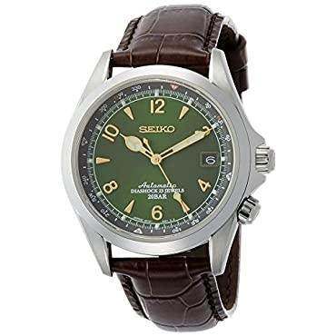 Seiko SARB017 Mechanical Alpinist Analog Automatic Self Wind Men's Watch (Brown)