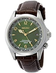 Seiko Men's Japanese Automatic Stainless Steel and Leather Casual Watch, Color:Brown (Model: SARB017)