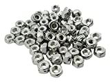 FOREVERBOLT FB3LNM8P50 NYLON LOCK HEX NUT, M8 – 1.25, 316 Stainless Steel, Finish NL-19, PK 50