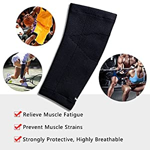 Arm Sleeve FREETOO Compression Elbow Sleeve Support Tennis Elbow Brace for Tendonitis Prevention and Joint Pain Stiffness Relief from Workouts such as Tennis, Golf, Basketball, Weightlifting-L