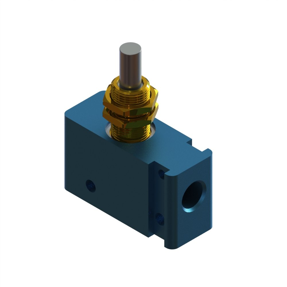 Air-Mite 3-Way Miniature Control Valve with Panel-Mounted Plunger Actuator