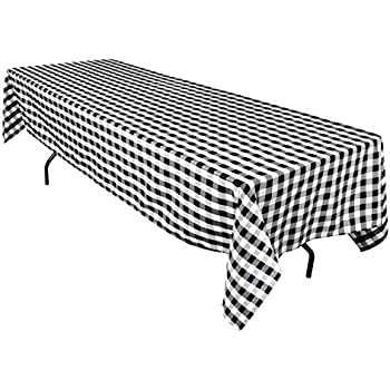 Exceptional This Item LinenTablecloth 60 X 126 Inch Rectangular Polyester Tablecloth  Black U0026 White Checker Nice Design