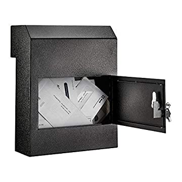 Image of AdirOffice Through-The-Door Safe Locking Drop Box (Black) Home Improvements
