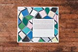 Stained Glass Geometric Ketubah | Jewish/Interfaith/Quaker Wedding Certificate | Hand-Painted Watercolor, Giclée Print
