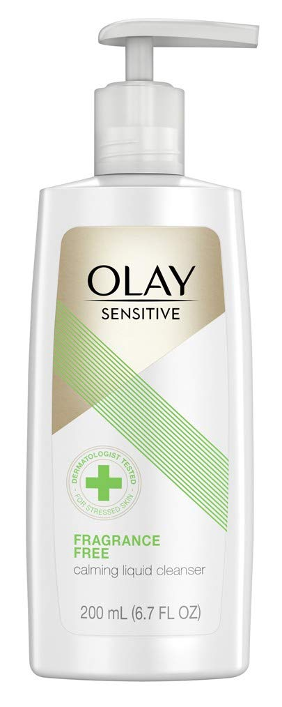 Olay Sensitive Calming Liquid Cleanser 6.7 Ounce Fragrance-Free Pump (200ml) (2 Pack)
