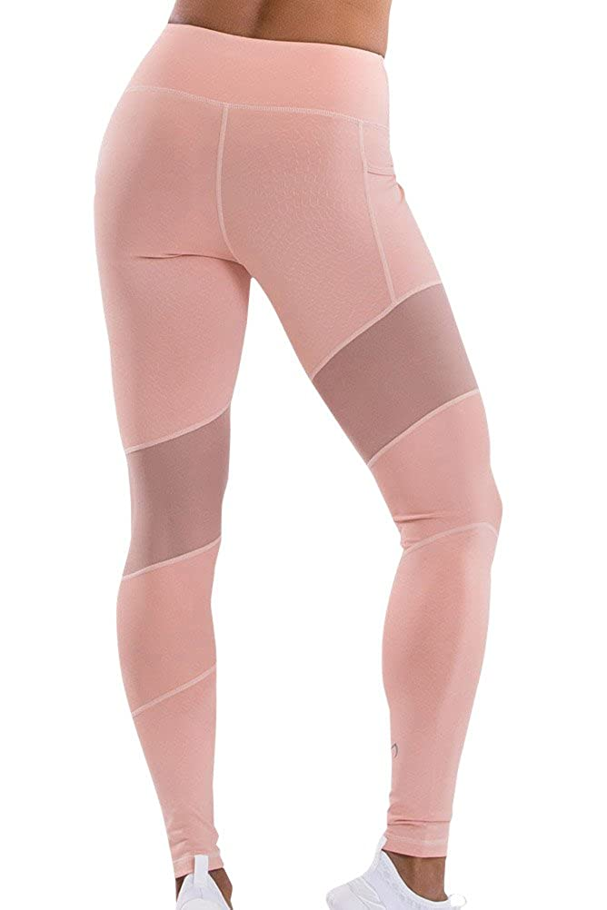 TLF Apparel Prima Blush Mesh Panel Margoux Legging L Pink