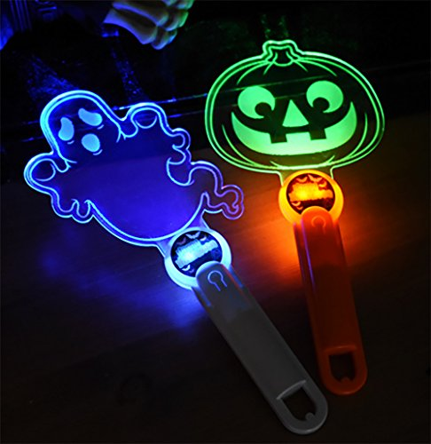 Halloween Flash LED Stick Luminous Lamp , Halloween Toys for Kid's (Pumpkin Rod + Ghost Rod ) (Halloween Costumes Adults Pinterest)