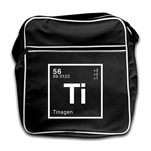 Tina Flight Element Red Dressdown Bag Retro Periodic Black 7ZqwOd1