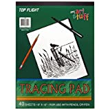 Top Flight Tracing Paper Tablet, Transparent, Erasable Surface, White, 9 x 12 Inches, 30 Sheets (65301)