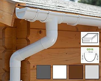| Bg70 Kastenrinnen regenrinnen Pultdach Braun Dachrinnenset 1 Dachseite