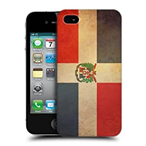 Head Case Designs Dominican Republic Dominican Vintage Flags Hard Back Case Cover for Apple iPhone 4 4S