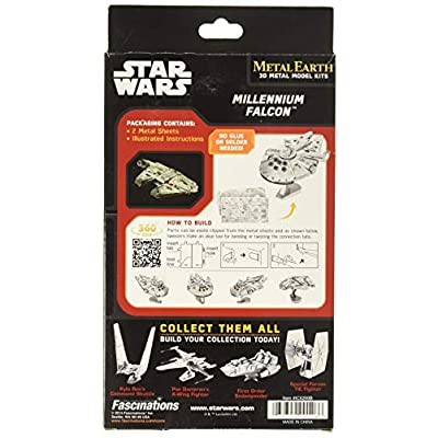 Metal Earth Star Wars Millennium Falcon: Toys & Games