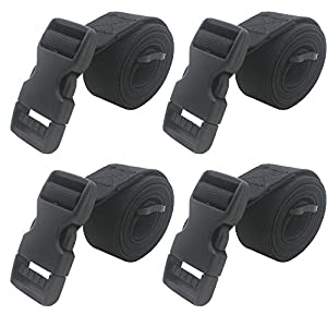 """YYST 4 PCS 1"""" X 48"""" Backpack Accessory Strap Luggage Strap Cover Strap Long Lash Strap Sleeping Bag Strap Mattress Strap with Quick Release Buckle Tied Band Fixed Belt"""