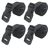 YYST 4 PCS 1' X 48' Backpack Accessory Strap Luggage Strap Cover Strap Long Lash Strap Sleeping Bag Strap Mattress Strap with Quick Release Buckle Tied Band Fixed Belt