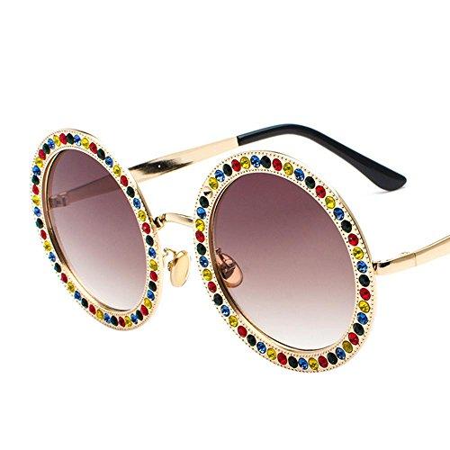 Aoligei Tour film Diamond lunettes de soleil Fashion océan multicolores de verres à pied Voir la rue lunettes de tir GgNmbXSyGZ