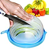 #4: Salad Cutter Bowl Vegetable Cutter Bowl, 60 Second Quickly Salad Maker Salad Cutting Bowl Salad Chopper Salad Slicer bowl by Okela
