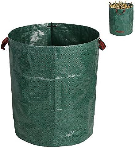 tropical ガーデンバケツ 折りたたみ ガーデンバッグ 収穫袋 集草バッグ 自立式 超大容量 折り畳み 丈夫 園芸用 お庭の清掃 収納専用バッグ 262L グリーン