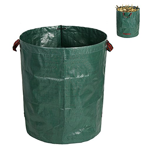 Enjoygous 72 Gallons Garden Waste Bags with Portable Handles, Yard Lawn Pop Up Leaf Grass Trash Bag, Reusable Collapsible Container