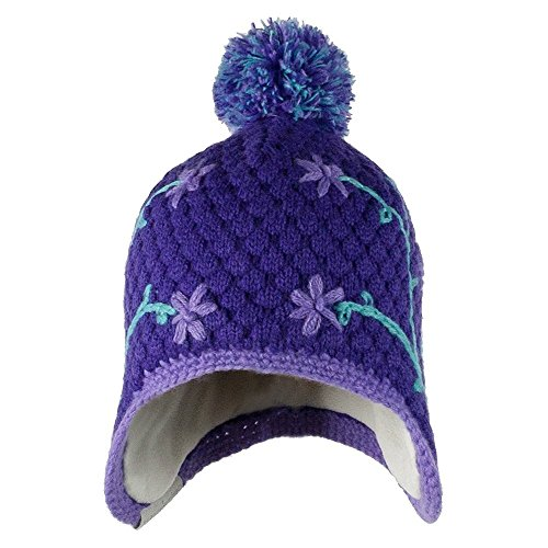 Flower Pop Knit Hat Grapesicle Kids ()