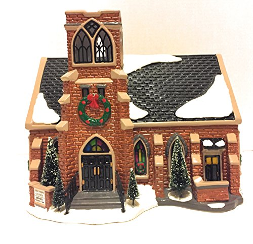 Department 56 Christmas Snow Village New Hope Church Lighted Christmas House Handpainted Ceramic