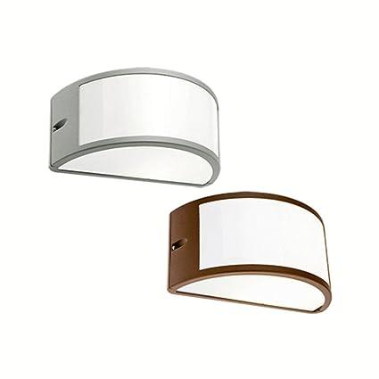 Lampade Per Esterno A Parete.Applique Mezzaluna Moderna Lampada Da Parete Per Esterno Corten