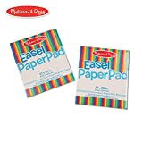 Melissa & Doug Easel Paper Pad (Top-Bound Pad, Premium White Bond Paper, 2-Pack with 50 Sheets)
