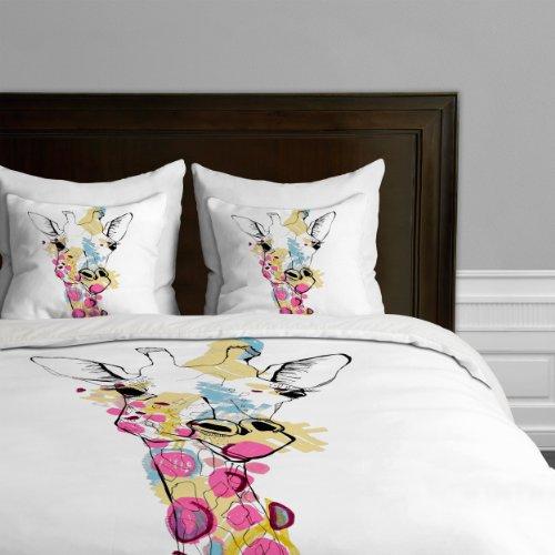 Deny Designs  Casey Rogers Giraffe Color Duvet Cover, Queen