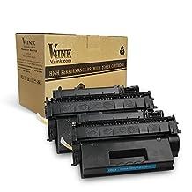 2 Pack V4INK New Compatible HP CE505X 05X Toner Cartridge-Black (HP 05X)
