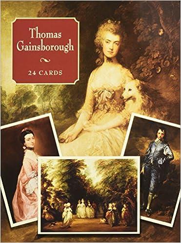 thomas gainsborough 24 cards dover postcards